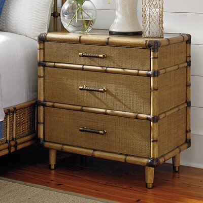 Twin Palms 3 Drawer Nightstand