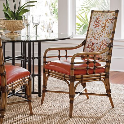 Twin Palms Genuine Leather Upholstered Dining Chair