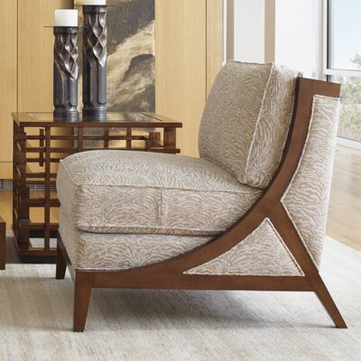 Island Fusion Tasman Slipper Chair Upholstery: Brown