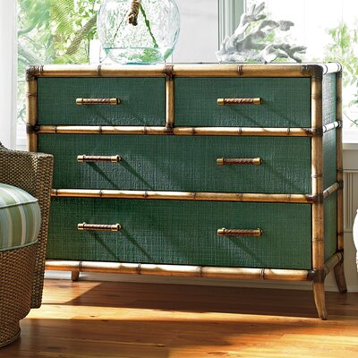 Twin Palms 4 Drawer Chest Color: Pacific Teal
