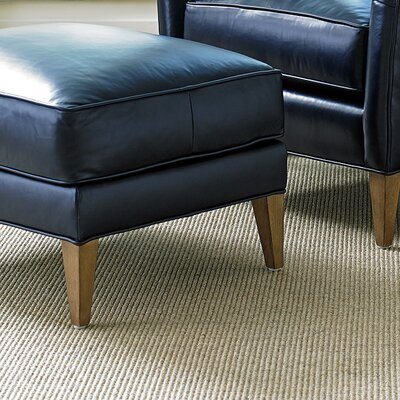 Twin Palms Coconut Grove Leather Ottoman