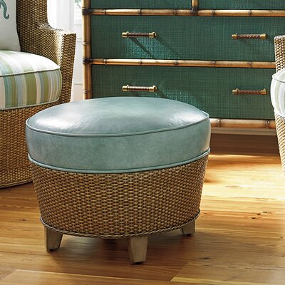 Twin Palms Lago Mar Leather Ottoman