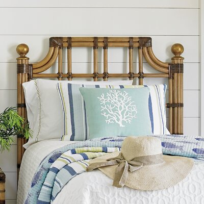 Twin Palms Slat Headboard Size: Twin