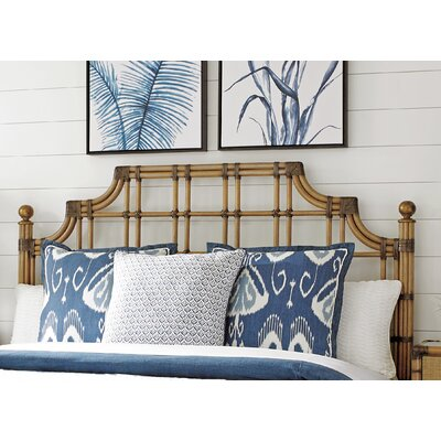 Twin Palms Slat Headboard Size: King