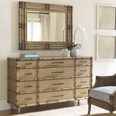 Twin Palms 12 Drawer Dresser with Mirror