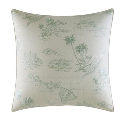 Abacos Embroidered Map Throw Pillow by Tommy Bahama Bedding