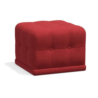 Bump Bump Cube Ottoman Upholstery: Red