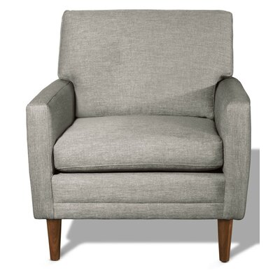 Circa Armchair Body Fabric: Marlow Chocolate, Leg Finish: Walnut