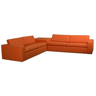Marfa Corner Sectional Sofa with Cube Upholstery: Mouse