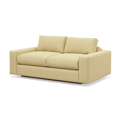 Jackson 80 Condo Sofa Body Fabric: Marlow Blue Bird, Frame Finish: Walnut