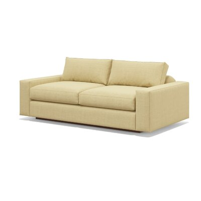 Jackson 70 Loveseat Upholstery: Toast, Frame Finish: Espresso Stained Alder