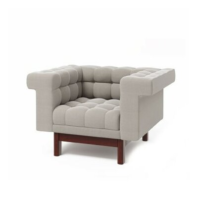 George Armchair Finish: Walnut, Upholstery: Laguna