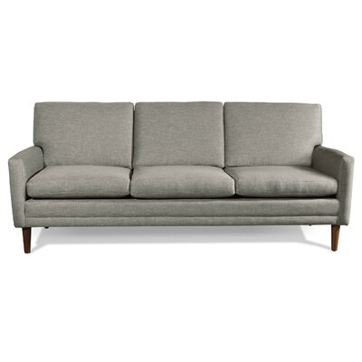 Circa Standard Sofa Frame Finish: Espresso Stained Alder, Upholstery: Burlap