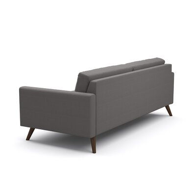 Dane Reversible Sectional Body Fabric: Klein Sea Blue, Leg Finish: Stained Walnut