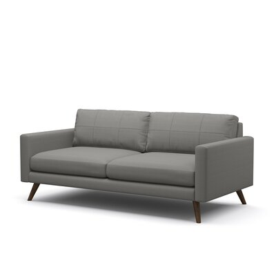 Dane 78 Condo Sofa Body Fabric: Klein Saffron, Leg Finish: Espresso Stained Alder