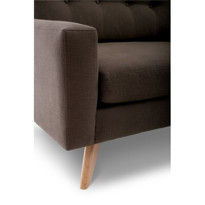 Luna Armchair Upholstery: Chocolate, Finish: Natural Honey Alder