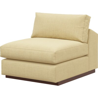 Jackson Slipper Chair Body Fabric: Marlow Toast, Frame Finish: Natural Honey Alder