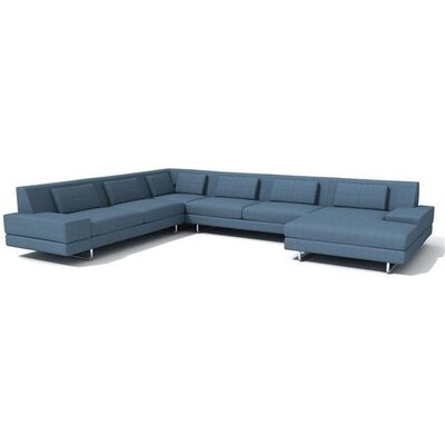 Hamlin Sectional Body Fabric: Klein Sea, Sectional Orientation: Right Hand Facing