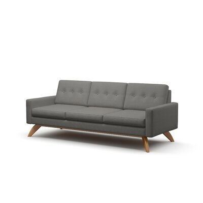 Luna 90 Sofa Frame Finish: Natural Honey Alder, Upholstery: Charcoal