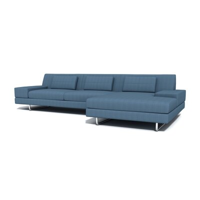 Hamlin Sectional Orientation: Left Hand Facing, Upholstery: Sea Blue