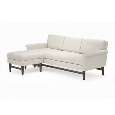 Diggity Sectional Frame Finish: Walnut, Upholstery: Azure