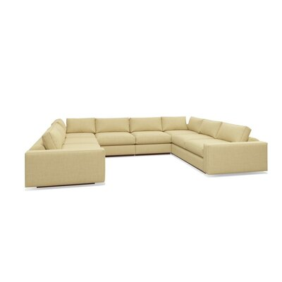 Jackson Sectional Upholstery: Parrot, Frame Finish: Walnut