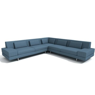 Hamiln Corner Sectional Sofa Orientation: Right Hand Facing, Upholstery: Mouse Grey