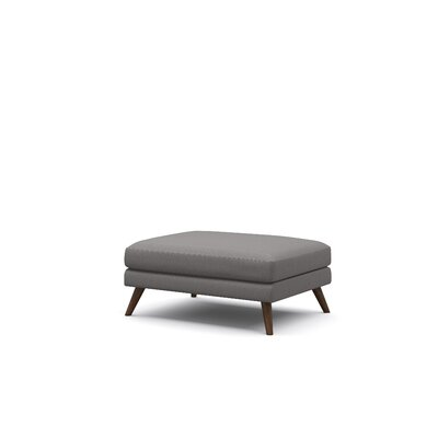 Dane Ottoman Upholstery: Chocolate, Frame Finish: Walnut