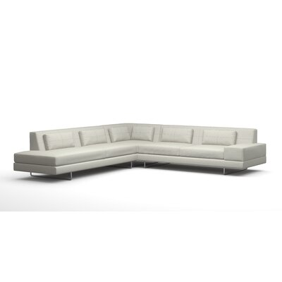Hamlin Sectional Body Fabric: Klein Ivory, Sectional Orientation: Left Facing