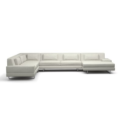 Hamlin Corner Sectional with Chaise Upholstery: Dove, Orientation: Right Hand Facing