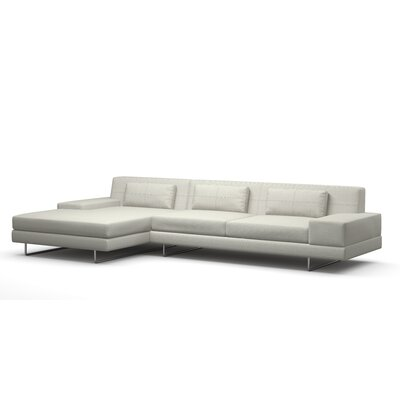 Hamlin Sectional Body Fabric: Klein Dove, Sectional Orientation: Left Hand Facing