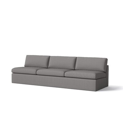 Marfa Armless Sofa Body Fabric: Klein Sea Blue