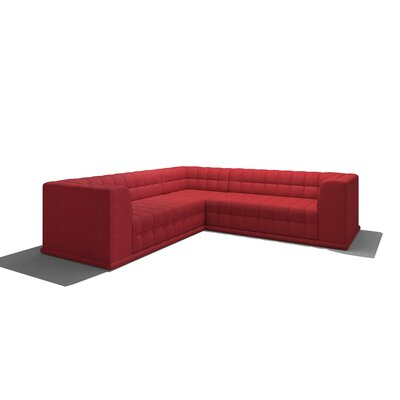 Bump Bump Corner Sectional Body Fabric: Marlow Chocolate, Sectional Orientation: Right Hand Facing