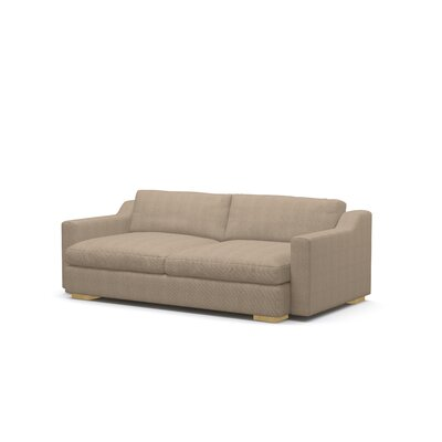 Uncle Sal Sofa Upholstery: Graham Burlap, Finish: Honey
