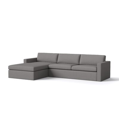 Marfa Sectional Body Fabric: Klein Charcoal, Sectional Orientation: Left Hand Facing