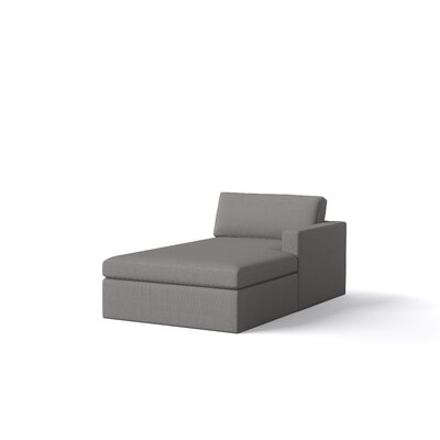 Marfa Chaise Body Fabric: Klein Mouse, Orientation: Right Hand Facing