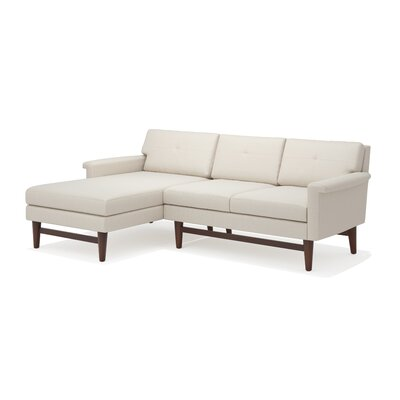 Diggity Sofa with Chaise Body Fabric: Klein Ivory, Leg Finish: Walnut, Sectional Orientation: Left Facing