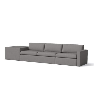 Marfa Sofa Cube Body Fabric: Klein Dolphin, Sectional Orientation: Left Hand Facing