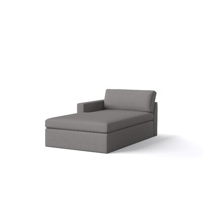 Marfa Chaise Body Fabric: Klein Charcoal, Orientation: Left Hand Facing