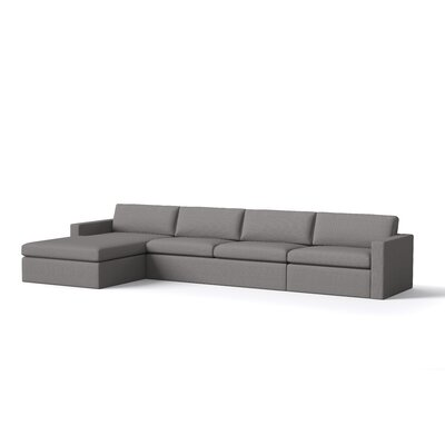 Marfa Sofa with Chaise Body Fabric: Klein Azure, Sectional Orientation: Left Hand Facing