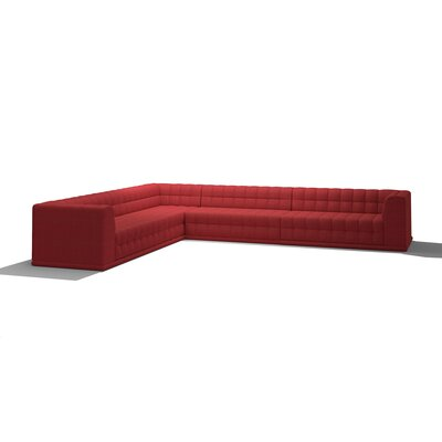 Bump Bump Corner Sectional Body Fabric: Marlow Red, Sectional Orientation: Right Hand Facing