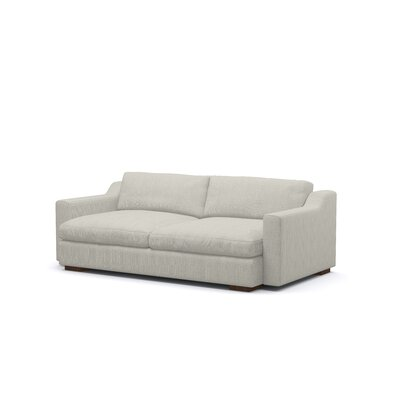 Uncle Sal Sofa Upholstery: Addison Dove, Finish: Stained Walnut