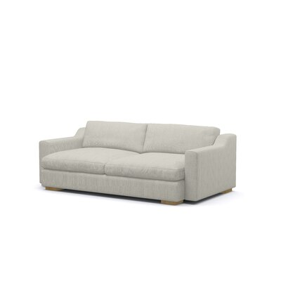 Uncle Sal Sofa Upholstery: Dove, Finish: Honey