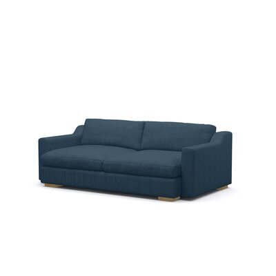 Uncle Sal Sofa Upholstery: Addison Azure, Finish: Honey