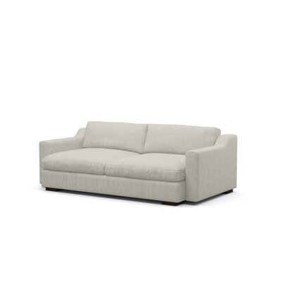 Uncle Sal Sofa Upholstery: Dove, Finish: Espresso
