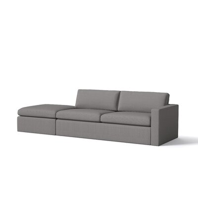 Marfa Sofa with Ottoman Body Fabric: Klein Dolphin, Sectional Orientation: Left Hand Facing