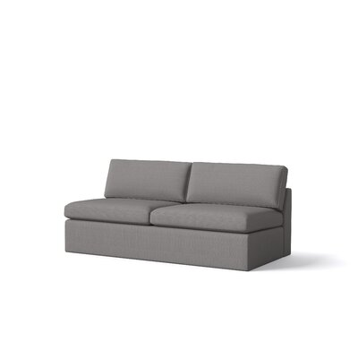 Marfa Armless Sofa Body Fabric: Klein Dolphin