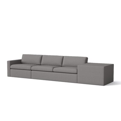 Marfa Sofa Cube Body Fabric: Klein Dolphin, Sectional Orientation: Right Hand Facing