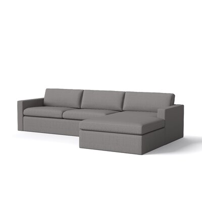 Marfa Sectional Body Fabric: Klein Chocolate, Sectional Orientation: Right Hand Facing