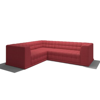 Bump Bump Corner Sectional Body Fabric: Marlow Blue Bird, Sectional Orientation: Right Hand Facing